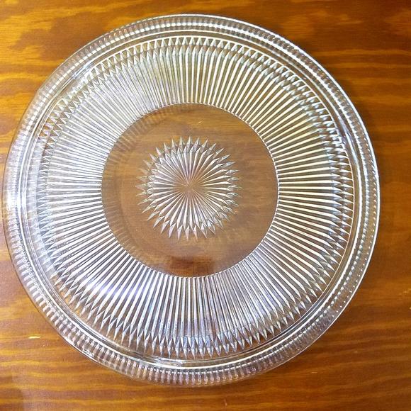 Vintage Footed Platter